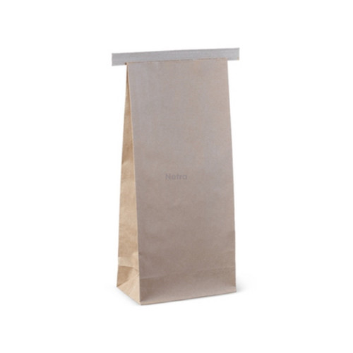 SOS Retail Bag - 500g Medium Brown Polylined with Tin Tie