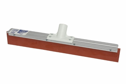 EDCO RED RUBBER Blade Floor Squeegee - 60cm Aluminium Stock (NO Handle) adaptor included - [41264]