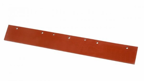 EDCO Floor Squeegee - 45cm RED Rubber Replacement Blade ONLY - [41282]