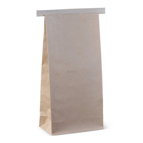 SOS Retail Bag - 1kg Large Brown Polylined with Tin Tie