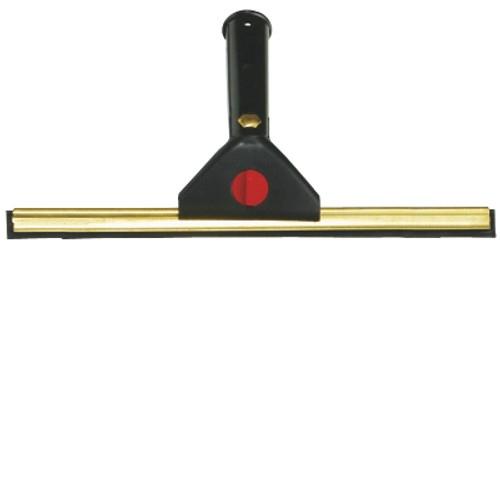 Professional Window Squeegee - 35cm Brass with Black Swivel Handle