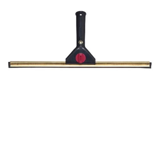 Professional Window Squeegee - 45cm Brass with Black Swivel Handle
