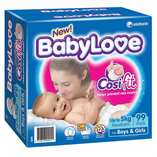Babylove Cosifit Nappies Newborn up to 5kg