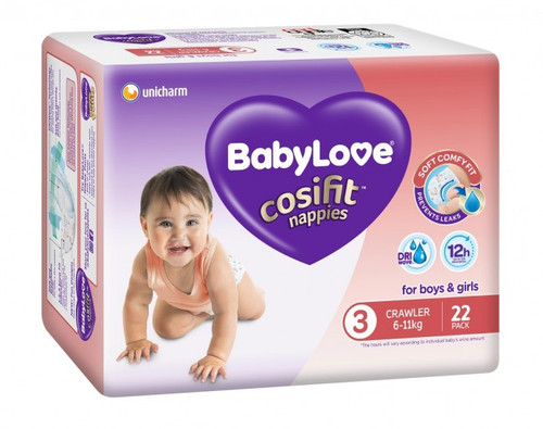 Babylove Cosifit Nappies Crawler / Medium 6-11kg