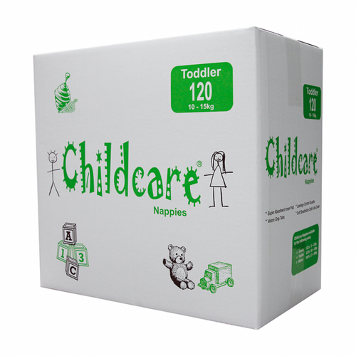 Childcare Nappies - Toddler / Large10-15kg - [CCT120]