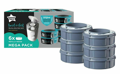 Baby Nappy Sacks - Tommee Tippee Sangenic Refill Cassettes 6 Refills