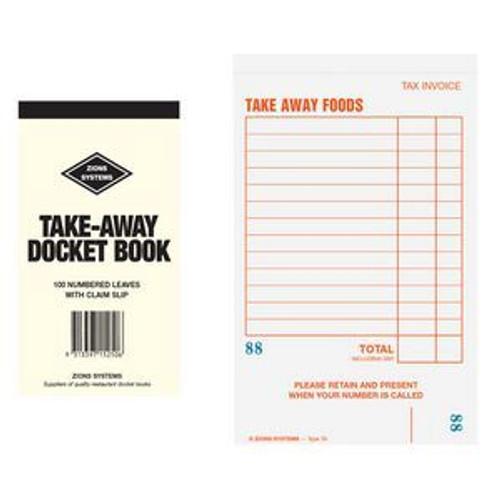 Docket Book - Take Away Red 100pg