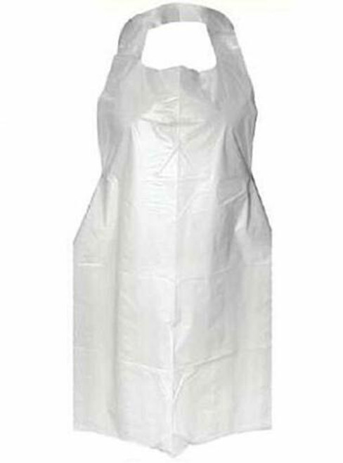 Disposable Apron White 1410 x 960mm HDPE Hang Pack - [410APW-HP]