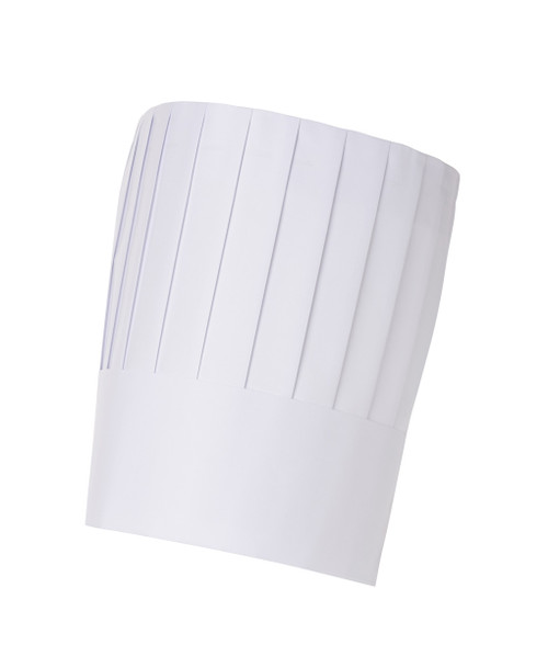 """Chef Hat - Paper - 9"""" Vertical Pleated"""