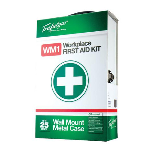 First Aid Kit - Workplace Wall Mountable Metal Case 1-25 People - Wall Mountable [876478]