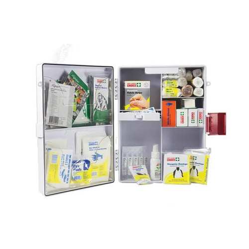 First Aid Kit - Workplace Wall Mountable Plastic Case 1-25 People - Wall Mountable