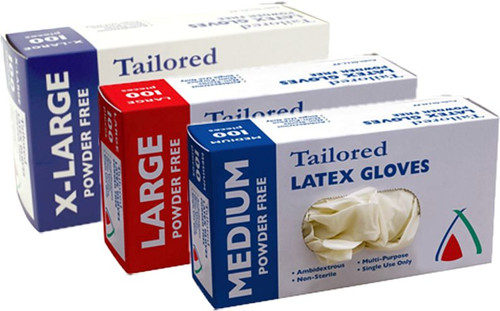 Glove Latex POWDER FREE Natural - MEDIUM