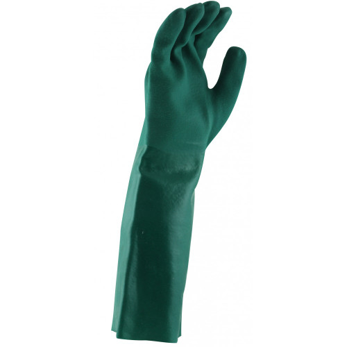 Green PVC Double Dipped Glove 45cm