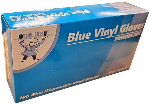 Glove Vinyl - BLUE - Food Handling - (Powdered) - SMALL