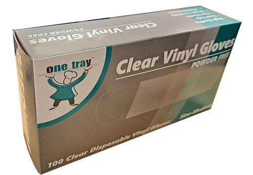 Glove Vinyl - CLEAR - Food Handling - (Powdered) - MEDIUM