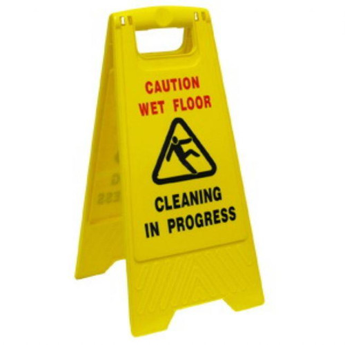Caution Sign - A Frame Cleaning in Progress / Wet Floor - [IW-006] - OATES