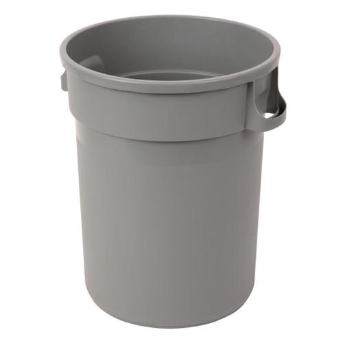 Rubbish Bin - 120 Litre Round Grey Bin - BASE ONLY - Commercial Grade Polypropylene - Heavy Duty