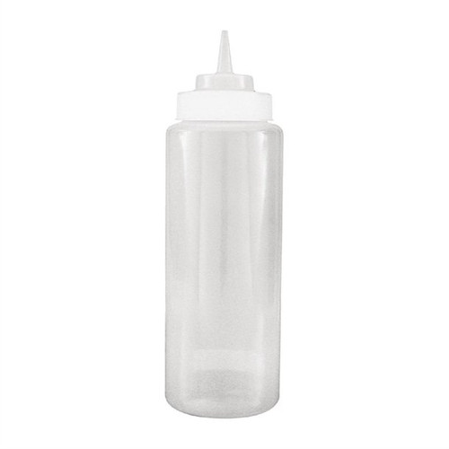 Squeeze Bottle - 950ml Wide Mouth CLEAR