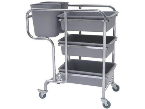 Trolley - Dish Collection [DCT] 77cm (L) x 43cm (W) x 89cm (H) Grey