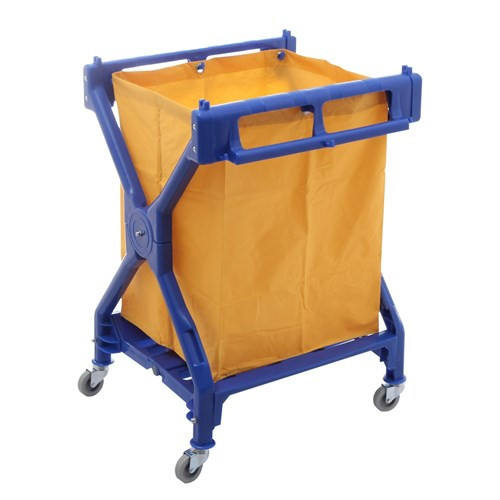 Trolley - Scissor Type Heavy Duty with Moulded Hooks 64 x 56 x 94cm including Large Waste Bag