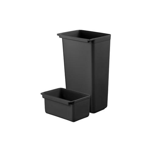 Utility Cart - Bin Set 1 Large (23 x 33 x 56.5cm) x 1 Small (16.5 x 32 x 23cm)