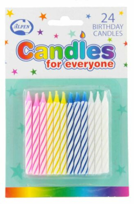 Birthday Candles NO Holders (24candles x 24 pkts)/box