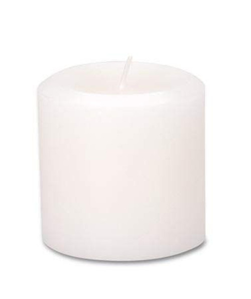 Candle - Pillar White Unscented 6.8 x 7.0cm