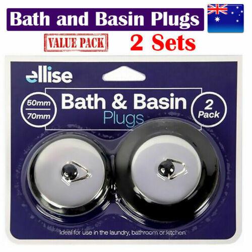 Sink Plugs Premium Black Silver Design - TWIN Packet