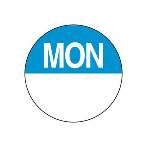 Food Rotation Label - PERMANENT - ROUND 24mm [81100] - MONDAY
