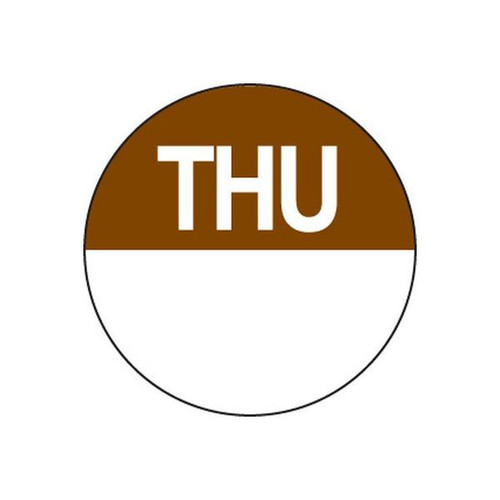 Food Rotation Label - PERMANENT - ROUND 24mm [81400] - THURSDAY