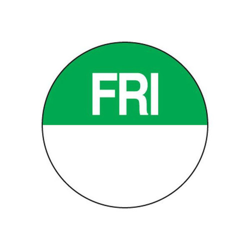 Food Rotation Label - PERMANENT - ROUND 24mm [81500] - FRIDAY