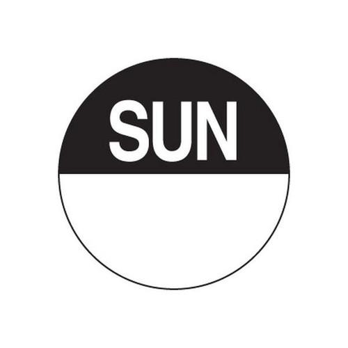 Food Rotation Label - PERMANENT - ROUND 24mm [81700] - SUNDAY