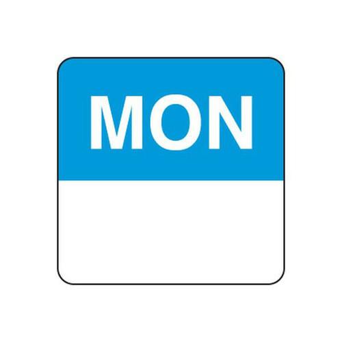 Food Rotation Label - PERMANENT - Square - 24mm Prep [61100] - MONDAY