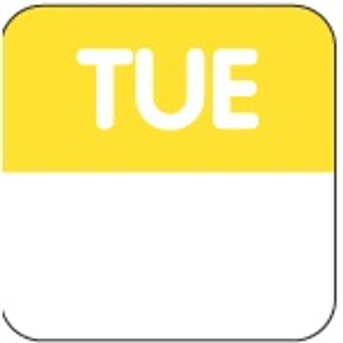 Food Rotation Label - PERMANENT - Square - 24mm Prep [61200] - TUESDAY