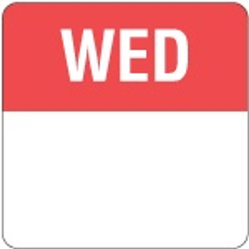 Food Rotation Label - PERMANENT - Square - 24mm Prep [61300] - WEDNESDAY
