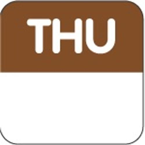 Food Rotation Label - PERMANENT - Square - 24mm Prep [61400] - THURSDAY