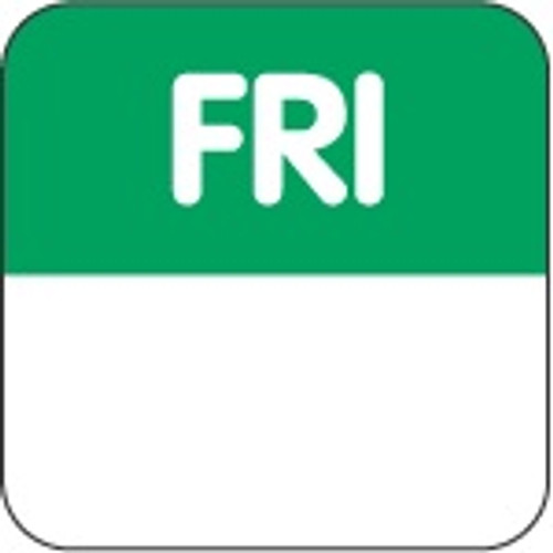 Food Rotation Label - PERMANENT - Square - 24mm Prep [61500] - FRIDAY