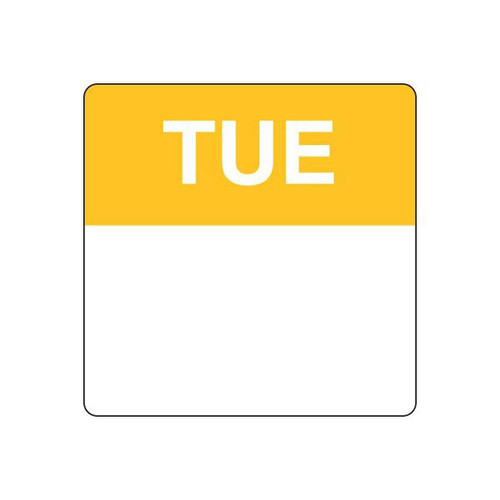 Food Rotation Label - PERMANENT - SQUARE 40mm [91200] - TUESDAY