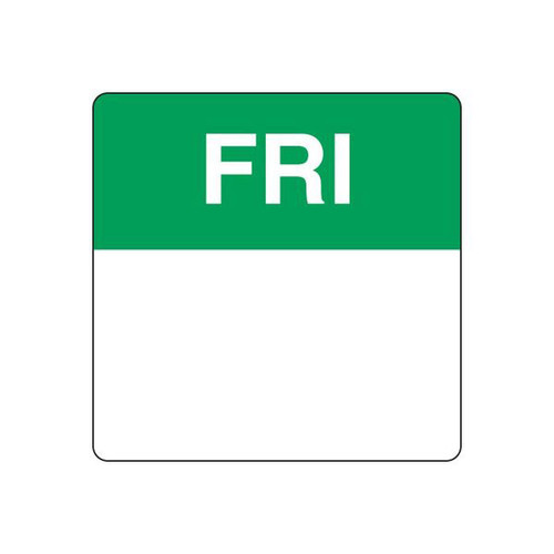 Food Rotation Label - PERMANENT - SQUARE 40mm [91500] - FRIDAY