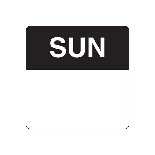 Food Rotation Label - PERMANENT - SQUARE 40mm [91700] - SUNDAY