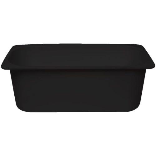 Ice cream Container Plastic 5Ltr - BLACK - 310.0 x 125.5 x (H)160mm