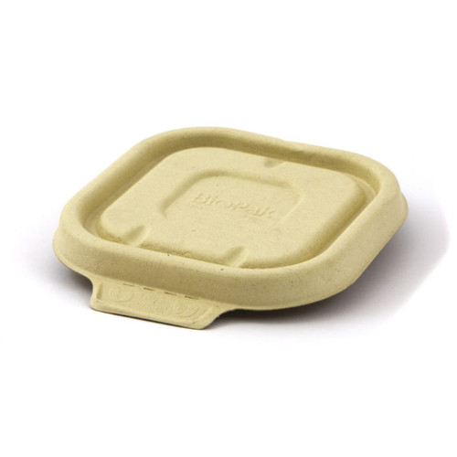 LID (BioCane) - Square NATURAL - [B-SLBL-N] / to suit BIOPAK Square Takeaway Bases 280ml - 630ml