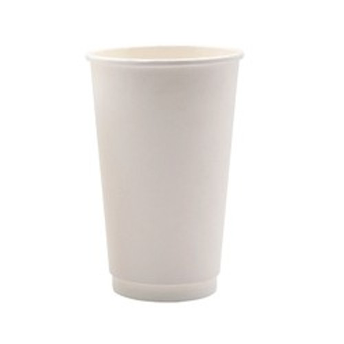 Coffee Cup (PE) DOUBLE Wall - 16oz WHITE