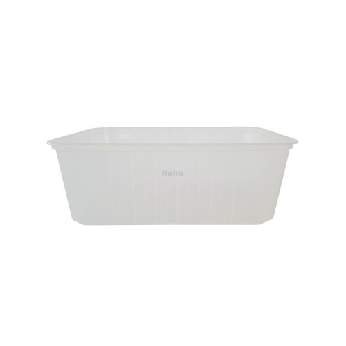 Ribbed Rect. Container ONETRAY - 1000ml Clear (Freezer Grade)