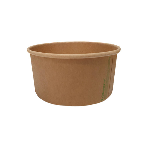Salad Bowl 32oz - Brown Kraft (PLA) - Extra Large - BIOSERV - 150x128x78mm