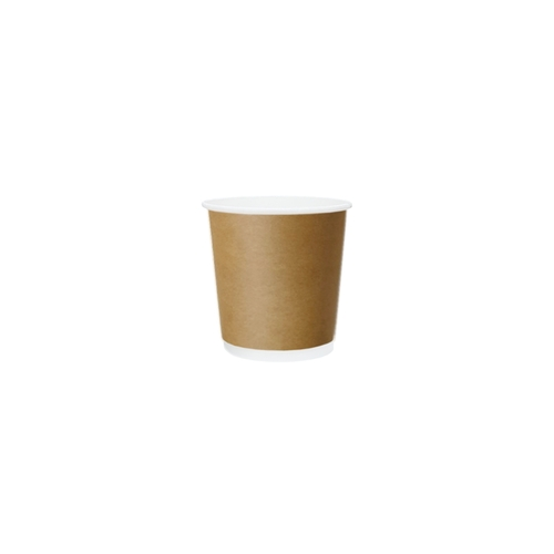 Coffee Cup (PE) - DOUBLE W - 4oz BROWN - ONETRAY