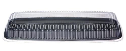 "Platter (Plastic) - Rectangular Black 22"" Large - [APSP22RB] - 558x230x24mm"