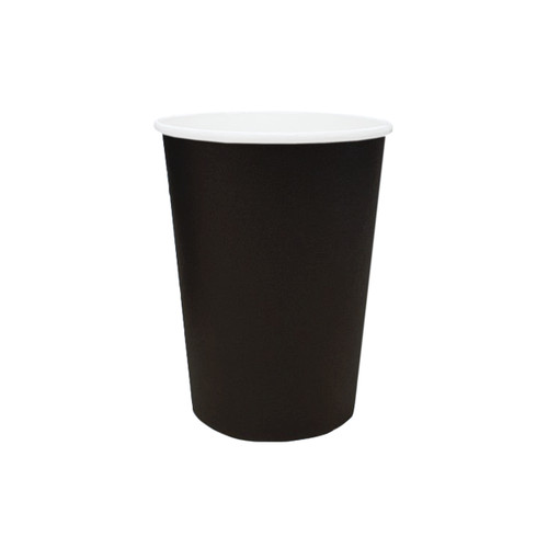 Coffee Cup (PE) - SINGLE Wall - 12oz (SLIM) - BLACK - ONETRAY