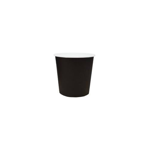 Coffee Cup (PE) - SINGLE Wall - 4oz BLACK -ONETRAY