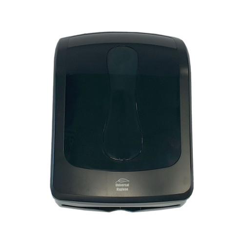 Dispenser - Paper Hand Towel - Ultrafold - ABS Plastic - Lockable - BLACK